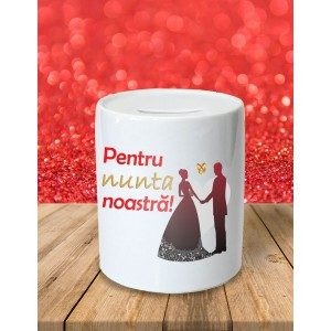 Pusculita Personalizata - Pentru Nunta Noastra! - Doua Nume - 33 RON - 1