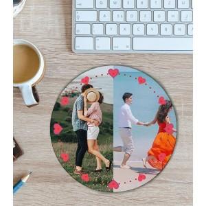 Mousepad Personalizat - Rotund - Love -  Doua Poze - Printbu.ro - 1