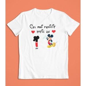 Tricou Personalizat Barbati - Cel mai fericit tatic de 1 an - Mickey Mouse - 49 RON - 1