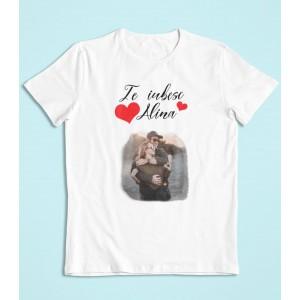 Tricou Personalizat Barbati - Te iubesc - Nume + Poza - 49 RON - 1
