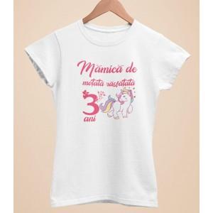 Tricou Personalizat Femei - Mamica de motata rasfatata de 3 ani - 55 RON - 1
