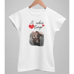Tricou Personalizat Femei - Te iubesc - Nume + Poza - 49 RON - 1