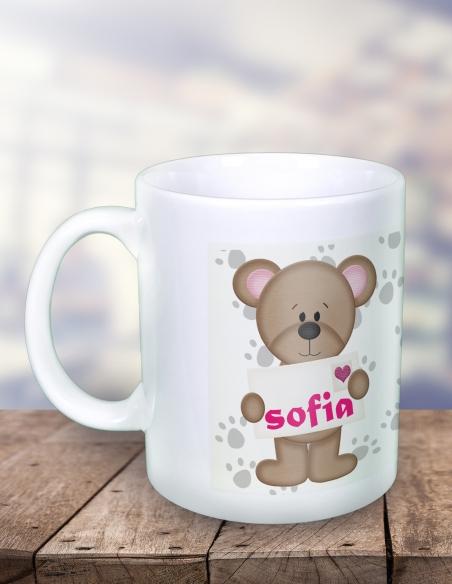 Cana Personalizata - Fosforescenta - Ursulet - Poza cu Nume - 31 RON - 1