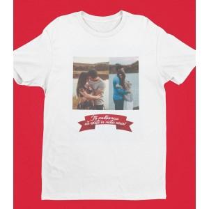 Tricou Personalizat Barbati - Iti Multumesc Ca Existi In Viata Mea - Doua Poze - 49 RON - 1