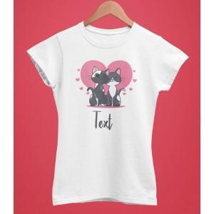 Tricou Personalizat Femei - Cats Love 2 - 49 RON - 1