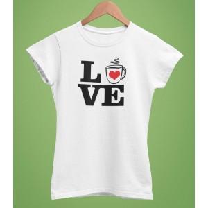 Tricou Personalizat Femei - Love Coffee - 49 RON - 1
