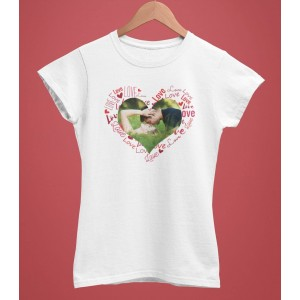 Tricou Personalizat Femei - Inima Sticker - Poza - 49 RON - 1