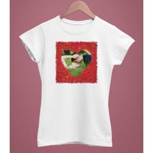 Tricou Personalizat Femei - Poza Inima - 49 RON - 1
