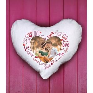 Perna Personalizata - Inima - Pufoasa - Love - Poza - 49 RON - 1